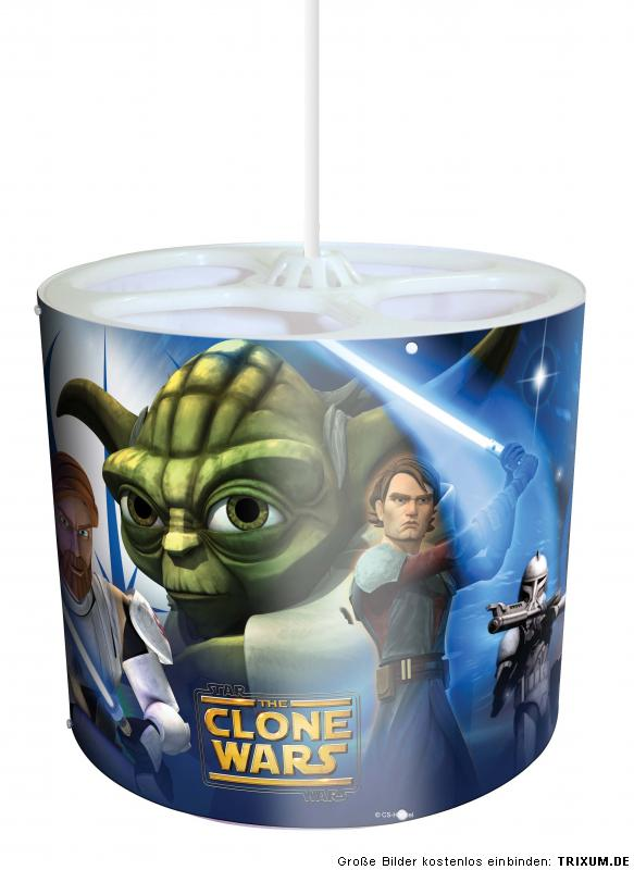star wars clone wars h ngelampe lampe glow in the dark ebay. Black Bedroom Furniture Sets. Home Design Ideas