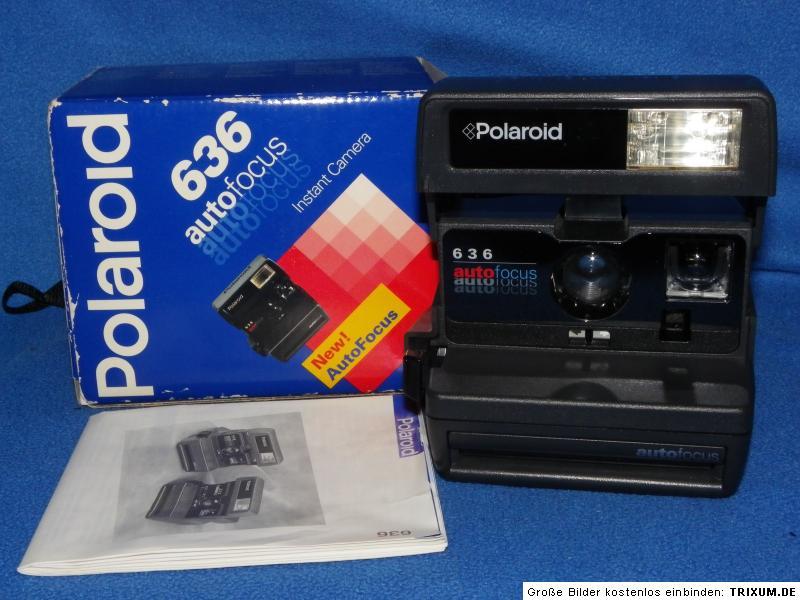 polaroid 636 autofocus instant camera anleitung ovp ebay. Black Bedroom Furniture Sets. Home Design Ideas