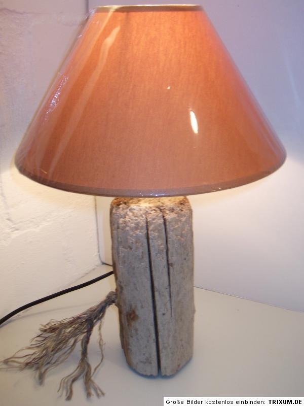 treibholz schwemmholz lampe leuchte tischlampe sylt ebay. Black Bedroom Furniture Sets. Home Design Ideas